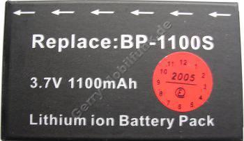 Akku CONTAX BP-1100S (Contax U4R) Daten: 1100mAh 3,7V LiIon 8,3mm (Zubehörakku vom Markenhersteller)