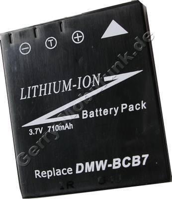 Akku PANASONIC LUMIX DMC-FX7 Daten: LiIon 7,2V 710mAh 5,9mm schwarz (Zubehörakku vom Markenhersteller)