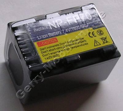 Akku SONY DCR-HC22E Daten: LiIon 7,2V 1600mAh grau 33,4mm (Zubehörakku vom Markenhersteller)