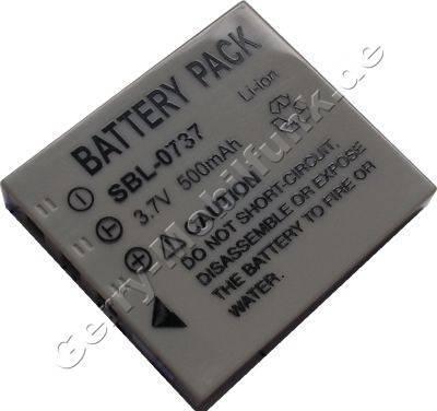 Akku SAMSUNG SBL-0737 Daten: LiIon 3,7V 500mAh 6mm (Zubehörakku vom Markenhersteller)
