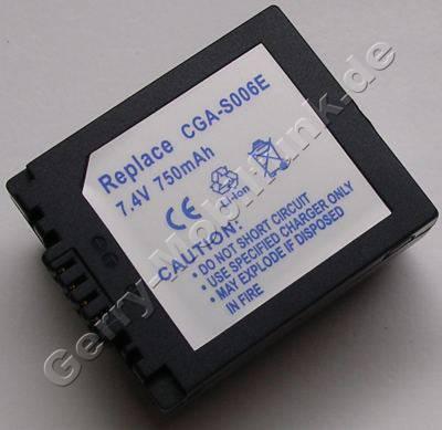 Akku PANASONIC CGR-S006 Daten: LiIon 7,4V 750mAh 18,6mm (Zubehörakku vom Markenhersteller)