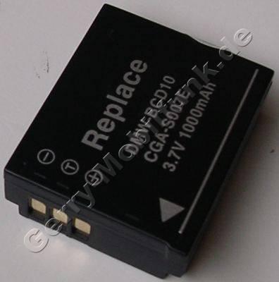 Akku PANASONIC LUMIX DMC-TZ1 Daten: LiIon 3,7V 1000mAh 12,3mm (Zubehörakku vom Markenhersteller)