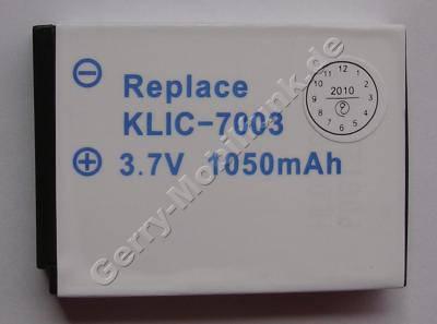 Akku Kodak EasyShare V803 Klic-7003 Daten: 1050mAh 3,7V LiIon 7,9mm (Zubehörakku vom Markenhersteller)