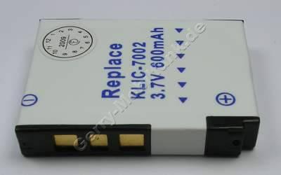 Akku Kodak EasyShare V603,  Klic-7002 Daten: 600mAh 3,7V LiIon 6,1mm (Zubehörakku vom Markenhersteller)