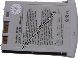 Akku für Dell Axim X5 LiIon baugleich mit P/N 1X390 3,7V 1440mAh 7mm dick ca.50g (Akku vom Markenhersteller, nicht original)