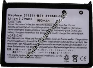 Akku für HP Compaq iPAQ H1945 LiIon 3,7V 950mAh 5,6mm dick ca.23g (Akku vom Markenhersteller, nicht original)