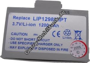 Akku für Mitac Mio 558 (baugleich mit LIP 1298 MIPT) Li-Polymer 3,6V 1200mAh silber  6,4mm dick ca.29g (Akku vom Markenhersteller, nicht original)
