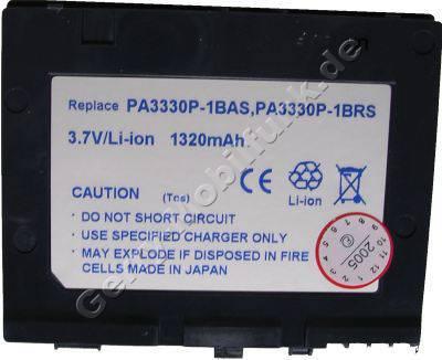 Akku für Toshiba E800 LiIon 3,7V 1320mAh graublau 5,5mm dick ca.39g  (Akku vom Markenhersteller, nicht original)