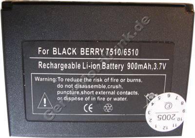 Akku für RIM Blackberry 7250 LiIon 3,7V 900mAh 7,5mm dick ca.26g (Akku vom Markenhersteller, nicht original)