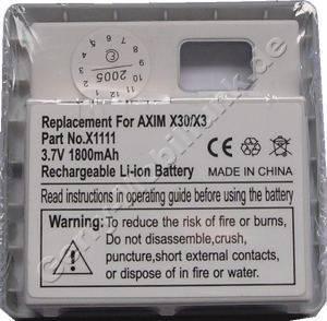 Akku für Dell Axim X3 silber (P/N X1111, W1359, 451-10163, 310-4268) LiIon 3,7V 1800mAh 13,1mm dick ca.48g (Akku vom Markenhersteller, nicht original)