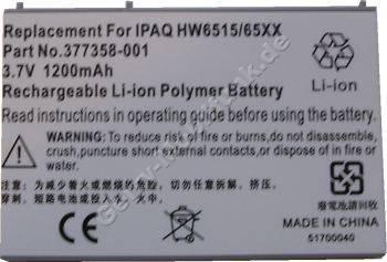 Akku für HP Compaq iPaq hw6500 LiPolymer 3,6V 1200mAh (Akku vom Markenhersteller, nicht original)