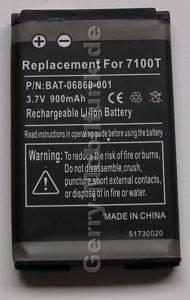 Akku für RIM Blackberry 7100AT (baugleich mit BAT-06860-001, ACC-07494-001,C-S1, 5061, 5068) LiIon 3,7V 900mAh 5,6mm dick ca.21g (Akku vom Markenhersteller, nicht original)