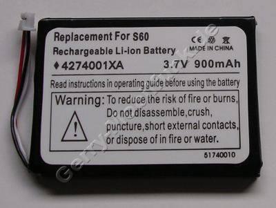 Akku für Acer s60 (4274001XA) Li-Ion 3,7V 900mAh 5,5mm dick ca.22g (Akku vom Markenhersteller, nicht original)