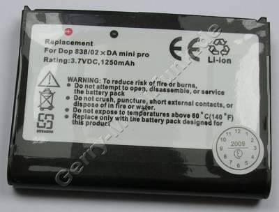 Akku für T-Mobile MDA Vario (WIZA16) LiIon 3,7V 1250mAh 6,4mm dick ca. 25gramm (Akku vom Markenhersteller, nicht original)