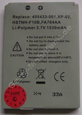 Akku für HP iPAQ rw6800 Serie (705433-001, FA764AA, HSTnH-F10B) Li-Polymer 3,7V 1530mAh ca.30g (Akku vom Markenhersteller, nicht original)