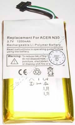 Akku für Acer n35 Li-Polymer 3,7V 1200mAh 53 x 34 x 5,4 mm (Akku vom Markenhersteller, nicht original)