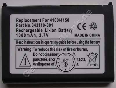 Akku für Fujitsu Siemens Pocket Loox 500 ( baugleich mit S26391-F2607-L50 )Li-Polymer 3,7V 1000mAh 6,4mm dick ca.25g (Akku vom Markenhersteller, nicht original)