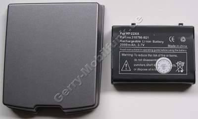 Akku für HP Compaq iPAQ H2215 LiIon 3,7V 2000mAh mit Gehäuse grau 7,1mm dick ca.42g (Akku vom Markenhersteller, nicht original)