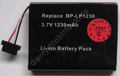 Akku Mitac Mio P550 (baugleich mit BP-LP1230, E3MT07135211, 441683800002) LiIon 3,7V 1230mAh 7,1mm ca 25g (Akku vom Markenhersteller, nicht original)
