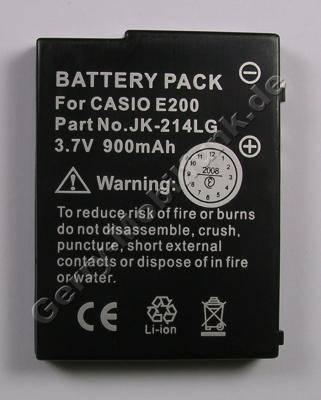 Akku für Casio Cassiobeia E-200 (baugleich JK-214LT, MR-CE200) Li-Polymer 3,7V 900mAh 7,0mm dick ca.24g (Akku vom Markenhersteller, nicht original)