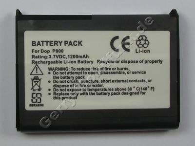 Akku Dopod P800 LiIon 3,7V 1200mAh 6,5mm ca 26g (Akku vom Markenhersteller, nicht original)