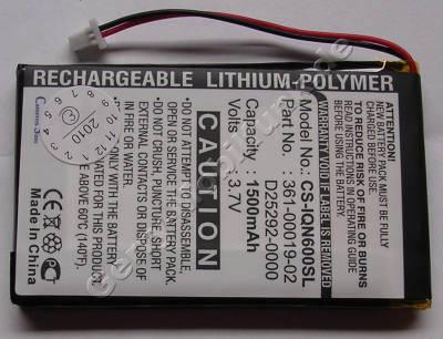 Akku für Garmin Nuvi/Nüvi 650 Li-Polymer 3,7Volt 1500mAh 5,3mm dick ca.25g (D25292-0000) (Akku vom Markenhersteller, nicht original)