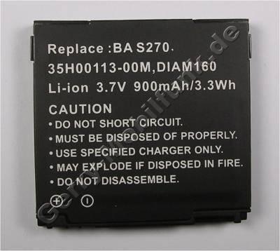 Akku für HTC Diamond 100 (baugleich mit DIAM160, 35H00113-003) LiIon 3,7V 900mAh 5,5mm dick ca.17g (Akku vom Markenhersteller, nicht original)