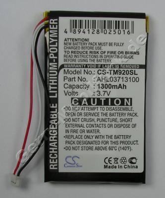 Akku für TomTom Go920T Li-Polymer 3,7Volt 1300mAh ca.25g (AHL03713100) (Akku vom Markenhersteller, nicht original)