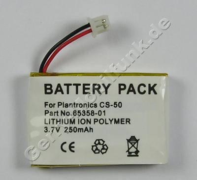 Akku für Plantronics C65 Headset Li-Polymer 3,7V 250mAh (Akku vom Markenhersteller, nicht original)