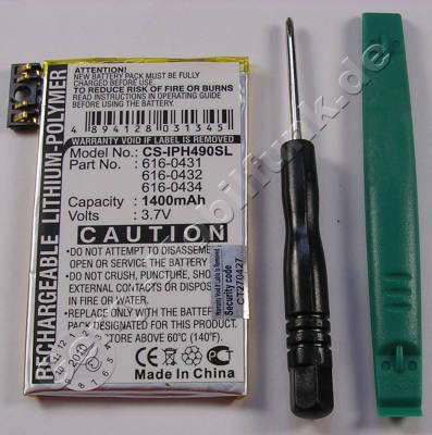 Akku für Apple iPhone 3G Li-Polymer 3,7Volt 1400mAh ca.30g (Akku vom Markenhersteller, nicht original) (616-0431 616-0432 616-0434)