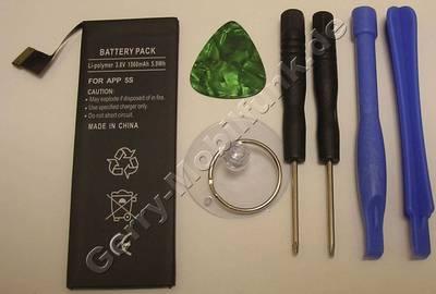 Akku für Apple iPhone 5S incl. Werzeug Set - 1560 mAh 3,8Volt 5,9Wh  (Akku vom Markenhersteller, nicht original)