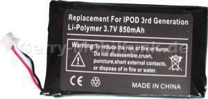 Akku Apple IPOD-3 LiIon 3,7V 850mAh (Akku vom Markenhersteller, nicht original)