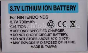 Akku Nintendo NDS LiIon 3,7V 700mAh 5,5mm ca 18g (Akku vom Markenhersteller, nicht original)