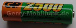 Akku Zelle GP 2500 HR6 AA Ni-MH 1,2V 2500mAh 50mm d=14mm