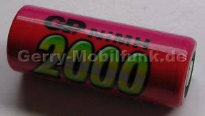 Akku Zelle GP 2000 Ni-MH 1,2V 2000mAh 43mm d=17mm