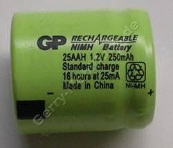 Akku Zelle GP 25AAH C6 Ni-MH 1,2V 250mAh 16mm d=14mm