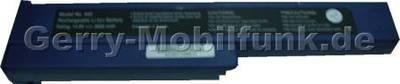 Notebook Akku für GERICOM Webgine Advance, Li-ion, 14,8 Volt, 3600mAh, dunkelblau (285,0 x 61,5 x 22,5mm ca. 420g) Akku vom Markenhersteller
