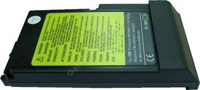 Notebook Akku für IBM ThinkPad i 1700 2624-XXX Serie, NiMH, 9,6 Volt, 4000mAh, schwarz (156,5 x 88,0 x 30,0mm ca.508g) Akku vom Markenhersteller (Ersetzt: 02K6521 02K6534 02K6537 ASM02K6534 FRU02K6537)