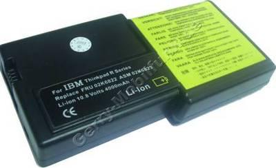 Notebook Akku für IBM ThinkPad R30, R31, Li-ion, 10,8 Volt, 4000mAh, schwarz (153,0 x 76,4 x 20,5mm ca.306g) Akku vom Markenhersteller(Ersetzt: 02K6821 02K6822 02K6824 02K6829 02K6830 02K6832)