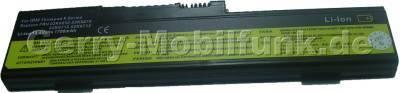 Notebook Akku für IBM ThinkPad X Serie, Li-ion, 14,4 Volt, 1700mAh, schwarz (208,6 x 53,2 x 15,5mm ca.176g) Akku vom Markenhersteller (Ersetzt: 02K6651 02K6652 02K6653 02K6678 02K6710 02K6712 02K6758 02K6760 02K6837 02K6839)