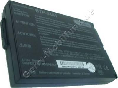 Notebook Akku für ACER- TravelMate 521, 521ATXV, 521TE, 521TEV, 521TX, 521TXV, LiIon, 14,8 Volt, 4000mAh, schwarz (129,5 x 89,5 x 21,5mm, ca. 436g) Akku vom Markenhersteller