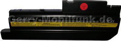 Notebook Akku für IBM ThinkPad T40, Li-ion, 10,8 Volt, 6600mAh, schwarz (225,7 x 80,2 x 20,3mm ca. 455g) Akku vom Markenhersteller (Ersetzt: FRU-08K8196, FRU-08K8197, FRU-08K8198, FRU-08K8199, FRU-08K8201)
