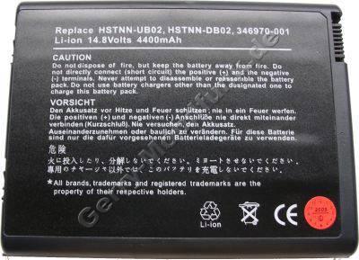 Notebook Akku für Compaq Presario PP2200 ( DP390A), Li-ion, 14,8 Volt, 4400mAh, schwarz (150,8 x 114,4 x 19,3mm ca. 480g) Akku vom Markenhersteller