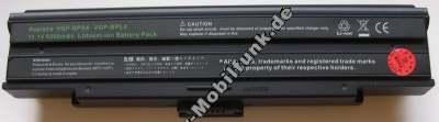 Notebook Akku für SONY VAIO VGN-AX570G, -AX580G, VGN-BX Serie (VGP-BPL4, -BPL4A, -BPS4, -BPS4A), Li-ion, 11,1 Volt, 9200mAh, schwarz (207,0 x 50,9 x 36,8mm ca.509g) Akku vom Markenhersteller
